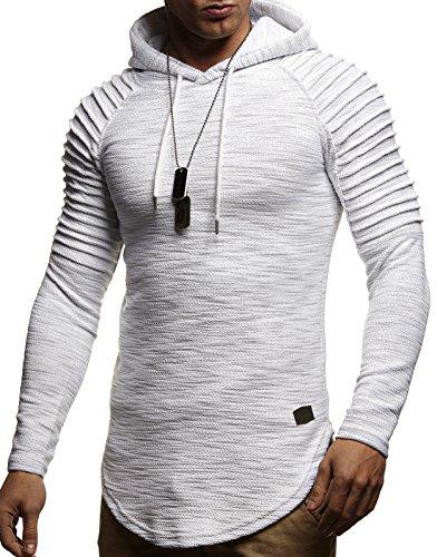 LEIF NELSON Herren Pullover Kapuzenpullover Hoodie Oversize Sweatshirt mit Kapuze Longsleeve Biker Sweater Langarm