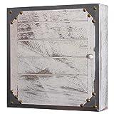 Mendler Schlüsselkasten Virginia, Schlüsselschrank Holzbox, Shabby-Look Vintage 27x27x6cm ~ weiß