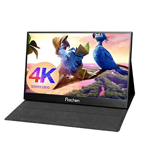 Prechen 13.3 Zoll Tragbarer Gaming-Monito 4K HD 3200x1800 Dual-USB-C-Eingang Portable HDMI Monitor, IPS-Bildschirm Perfekt für MacBook Xbox Eine 360 PS3 / PS4 gewinnt 7 8 10, Schwarz (Usb-eingang Monitor)