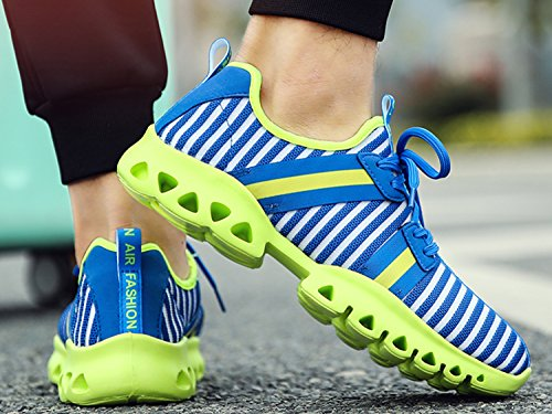 IIIIS-R Unisex Laufschuhe Retwin Turnschuhe Straßenlaufschuhe Sneaker Mit Snake Optik Damen Und Herren Outdoor Sportschuhe Blau