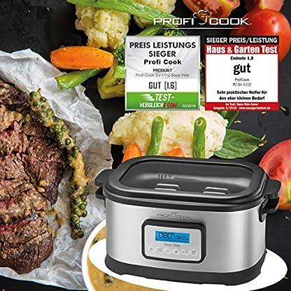 Profi-Cook-SV-1112-ProfiCook-Sous-Vide–Schongarer-Topf-und-Vakuum-fr-Kche-Kochen-bei-niedrigen-Temperaturen-85-l-520-W-grauschwarz-Energieklasse-a-85-liters