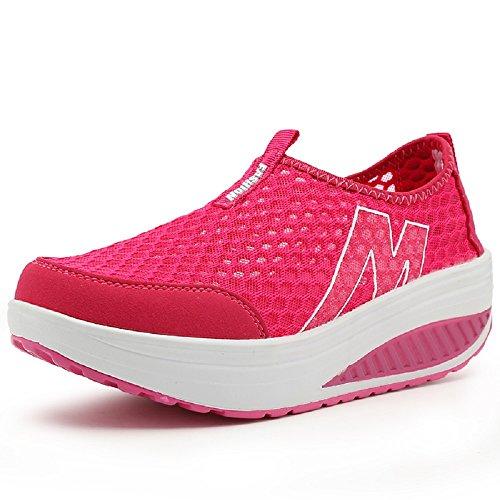 Peggie House femme Réspirante Séchage Rapide pour Slip-On Sandales Chaussures de Plein Air Chaussures de Marche taille: 35-40 Rouge