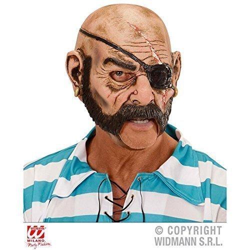 Lively Moments Maske Pirat mit offenem Mund / Latexmaske / Piratenmaske / Halloween / Fasching / Halloweenkostüm Zubehör