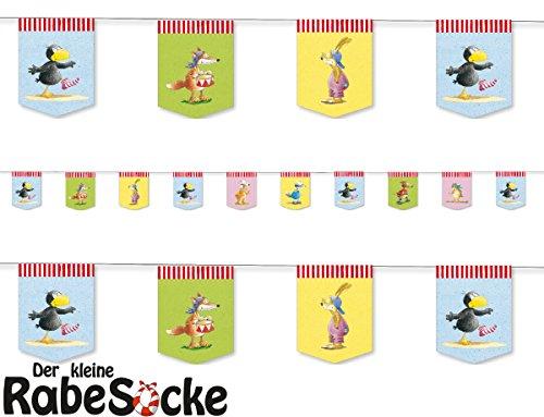 Preisvergleich Produktbild 3,5m Wimpelkette * DER KLEINE RABE SOCKE * mit 10 Wimpeln für Kinderparty und Kindergeburtstag von DH-Konzept // Deko Partykette Girlande Banner Party Set