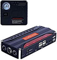 600A Peak 9000mAh Portable Car Jump Starter Power Pack Auto Battery Booster (up to 6.2l gas or 5.0l diesel) 12