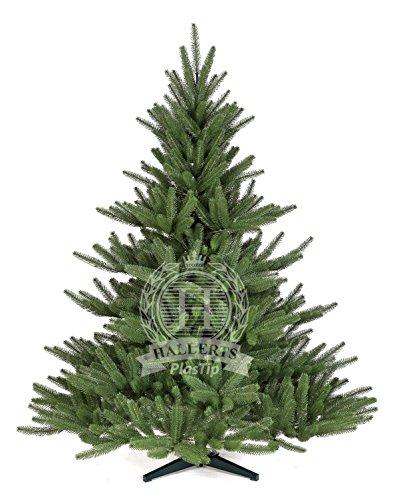 Original Hallerts Spritzguss Weihnachtsbaum Bolton 150 cm als Edel Nordmanntanne - Christbaum zu 100% in Spritzguss PlasTip Qualität - schwer entflammbar nach B1 Norm, Material TÜV und SGS geprüft - Premium Spritzgusstanne