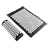 Body Head Foot Neck Massager Cushion Mat Set Acupressure Relieve Stress Pain Aches Muscle Tension Spike Yoga Mat with Pillow