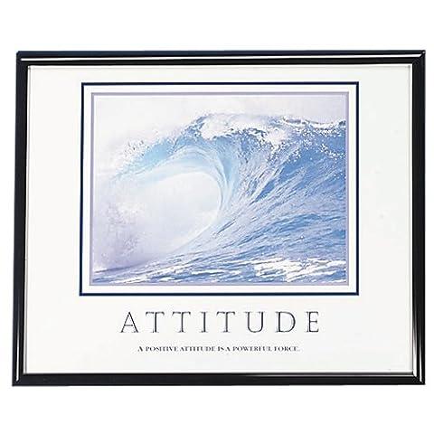 ADVANTUS Framed Motivational Print, Attitude, 30 x 24 Inches, Black Frame (78024)