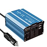 #1: QUANTICO 300W DC to AC CAR Power Inverter Heavy Duty