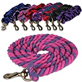 Navy & Green Twist Cotton 2 Metre Strong Horse / Pony Lead Rope With Trigger Clip Snap Hook AND Tigerbox® Antibacterial Pen!