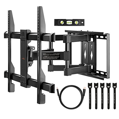 Brilliant easy to install and use TV bracket.This Bracket comes with all you need to install on the wall and mount your TV too.  You get the wall screws, TV mounting screws, HDMI cable, Sprit level and cable ties too. This is a one stop sho