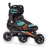 Rollerblade MACROBLADE 110 3WD W - Patines en línea (Patines en línea Fitness, Adulto, Femenino, Negro, Verde, Estampado, Cierre Alto)