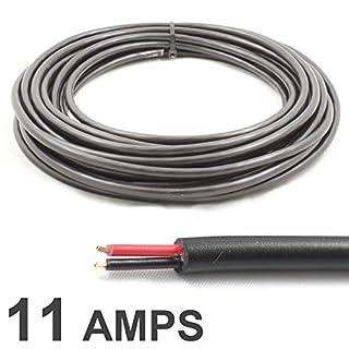Rundes Doppelkern-Kabel, 12V, 24V, dünnes Wandkabel (11A, 0,5 mm²), 10m