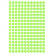 """612 Deko Klebepunkte aus Design Folie, Farbton """"Water Lily matt"""", 10 mm, Kreise Punkte Aufkleber"""