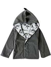 Baby abrigos Niños chaqueta con capucha invierno caliente caliente Niño dinosaurio ...