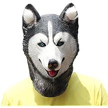 PartyCostume Máscara de Cabeza Animal de Látex de Fiesta de TrajeLujo de Halloween de Perro (Husky)