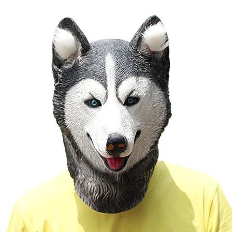 PartyCostume Deluxe Innovante Toussaint Costume Réunion Botanique Animalia Tête Masque Huskies