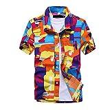 YURACEER Sommer Short-Sleeve Herren Strand Hawaiian Shirt 2019 Kurzarm Plus Größe Floral Shirts Männer Casual Urlaub Shirt x1 XXL