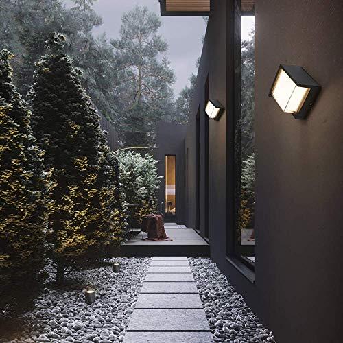 MJK Wandleuchte, IP54 moderne LED-Wandbeleuchtung, Sand grau Farbe Aluminium Wandleuchten, Acryl Wandleuchte für Korridor Patio Zaun Clubhaus Villa Flur Garten Erholung