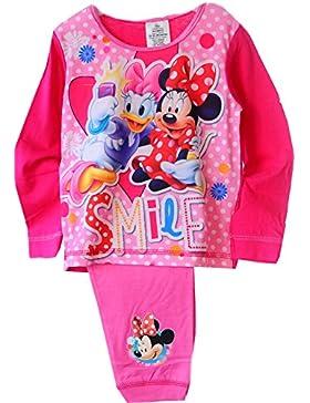 Minnie Mouse Baby Pyjama Schlafanzug SET Shirt Hose Rosa Pink