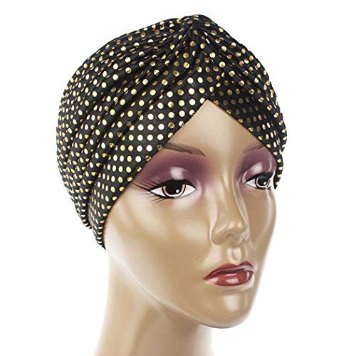 raylans Frauen Fashion Turban Hat Cap Head Abdeckung, gold, Einheitsgröße (Headcover Turban)
