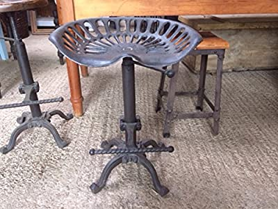 Replica Cast Iron Tractor Adjustable Seat Bar Stool - cheap UK light store.