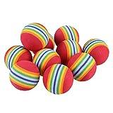 miaofa 10PCS Colorful Pet Hund Katze Kätzchen weicher Schaumstoff Rainbow Play Bälle Aktivität Spielzeug