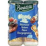 Bénédicta - Assortiment de sauces, béarnaise, tartare, cocktail et bourguignonne - Les 4 pots, 330g - Prix Unitaire - Livraison Gratuit Sous 3 Jours