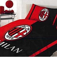 Milan - Juego de sábanas para cama individual de una plaza, algodón, rojo - 6391 673 P501