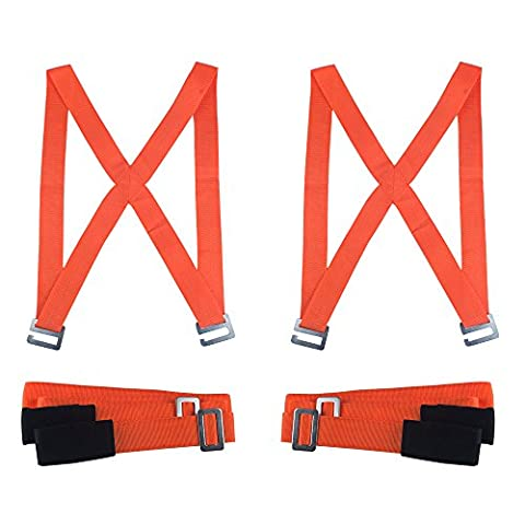 2-Person Moving Straps System,Adjustable Shoulder Harness Lifting and Moving Strap,Max Load 800 Pound,Easy to Carry Heavy Object, Desks,Lockers,Furniture,Appliances without Back