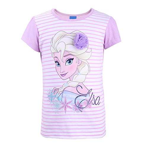 Disney-die eiskönigin 73666, t-shirt bambina, violett (flieder 887), 6 anni