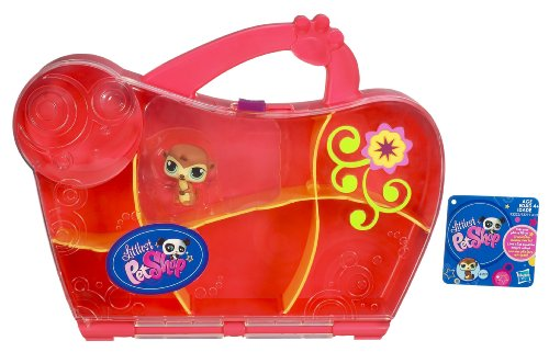 HASBRO LITTLEST PET SHOP PETSHOP VALISETTE DE RANGEMENT ROSE ET MANGOUSTE 1376