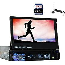 Autoradio Unidad Electrónica cabeza MP3 MP4 sola 1din En Dash TV Video CD DVD reproductor multimedia Auto PC del coche de radio de coche estéreo desmontable con pantalla táctil 7Inch EQ Subwoofer Digital