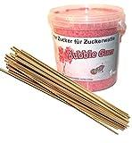 1 kg di zucchero aromatico per zucchero colorato/popcorn (Bubble Gum) + 50 bastoncini di zucchero 30 cm quadrati