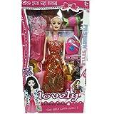 Babytintin™ Fashion Doll Girl Makeup Set Wardrobe Dresses Doll Set For Little Princess (Dress & Design May Vary)