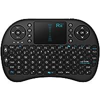 Rii i8 2.4GHz RF Mini Wireless Keyboard with Touch Pad Mouse Black UK Layout KODI XBMC Raspberry Pi Android Box HTPC IPTV Remote Control
