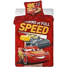 aymax s.p.r.l Cars 3funda de edredón Reversible 140x 200cm) + funda de almohada (65x 65cm, 100% algodón, rojo, 200x 140cm