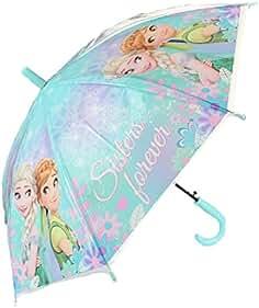 Frozen princesas paraguas transparente automático 70 cm cubierta impermeable niña clásico