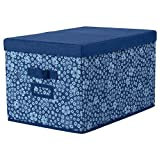 IKEA ASIA STORSTABBE Box mit Deckel blau weiß