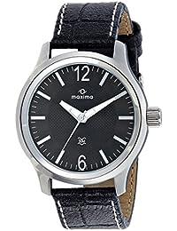 Maxima Attivo Analog Black Dial Men's Watch - 24057LMGI