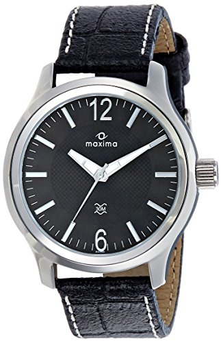 Maxima Attivo Analog Black Dial Men's Watch - 24057LMGI image