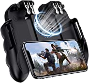 TAIWANG Mobile Game Controller For PUBG, [6 Finger/Upgrade Version ] Google Android & Iphone L1R1 Aim And