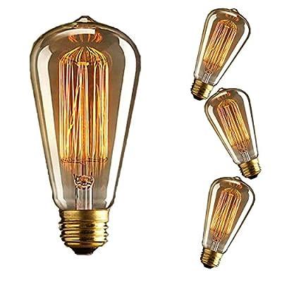KINGSO 3x E27 40W Edison Lampe Vintage Stil Glühbirne Squirrel Cage Retro Lampe Antike Beleuchtung 220V von KINGSO