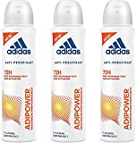 adidas adipower Deo Body Spray für Damen, 3er Pack (3x150 ml)