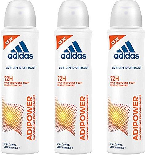 adidas adipower Deo Bodyspray für Damen - Deodorant ohne Alkohol für 72h effektiven Deo-Schutz - pH-hautfreundlich - 1 x 150 ml - Adidas Deo-antitranspirant