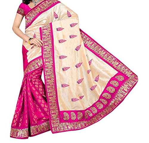 Sunshine Fashion Bhagalpuri Silk Printed Saree For Women (Pink_SUNSA348)( New Arrival Latest Best Design Beautiful Sarees Material Collection For Women and Girl Party wear Festival wear Special Function Events Wear In Low Price With Todays Special Offer with Fancy Designer Blouse and Bollywood Collection 2017 )  available at amazon for Rs.315