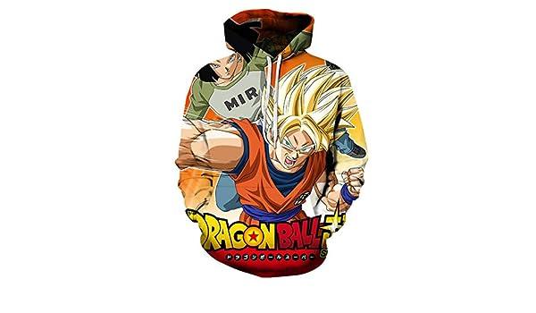 ZLLndz Felpe con Cappuccio Dragon Ball Felpe con Tasca Anime