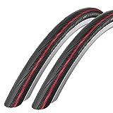Schwalbe - 2 neumáticos Lugano para Bicicleta de Carretera, 700 c x 25, Color Rojo