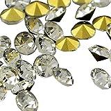 PandaHall Precio de 200 Piezas Grado de Diamantes de Cristal de una Copa Imitaciš®n de Pedreršªa chaton, Volver Chapado, 2.4~2.5 mm