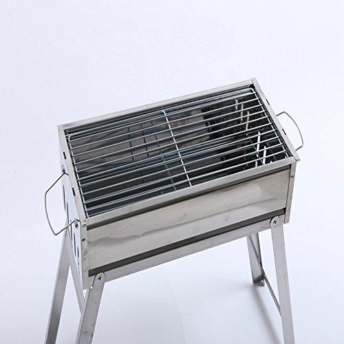Barbacoas de carbón Parrilla portátil plegable conveniente for acampar al aire libre o acero inoxidable...